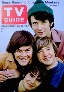 TV-Guide-1967-The-Monkees-Davy-Jones-Micky-Dolenze-Mike-Nesmith-NM-M-COA