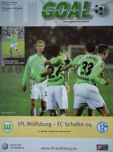 FC Schalke 04 Programm 2001//02 VfL Wolfsburg