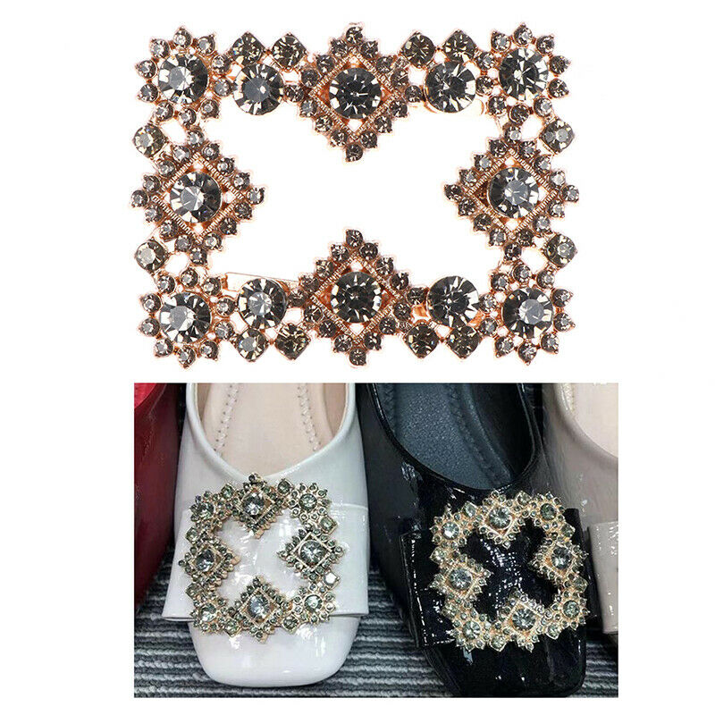 1Pc Women Shoes Clips DIY Shoe Charms Rhinestone Shoe Decorative Accessories Pb