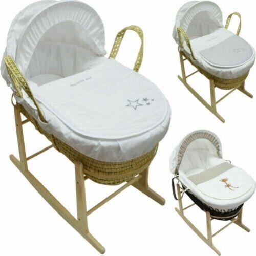 Steppdecke Kapuze Abdeckung Verband Und Schaukel Baby Moseskorb mit Matratze