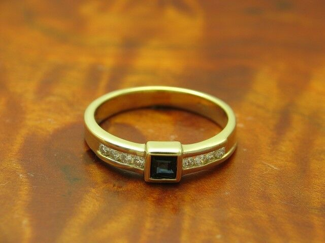 14kt 585 gold yellowgold RING MIT 0,16ct. BRILLANT UND 0,27ct SPINELL BESATZ 3,8g