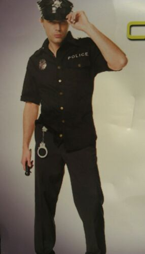 Men/'s Policeman  police uniform cop costume party//halloween