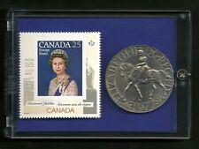 Diamond Jubilee  Crown 1977 Commemorative Canada Stamp & Coin Set