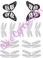 Gelatin Art Veining Sheet - Dragonfly & Lg Butterfly