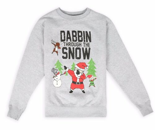 EDIZIONE Limitata Da Uomo Natale dabbin attraverso la neve brutto Felpa S-XXL