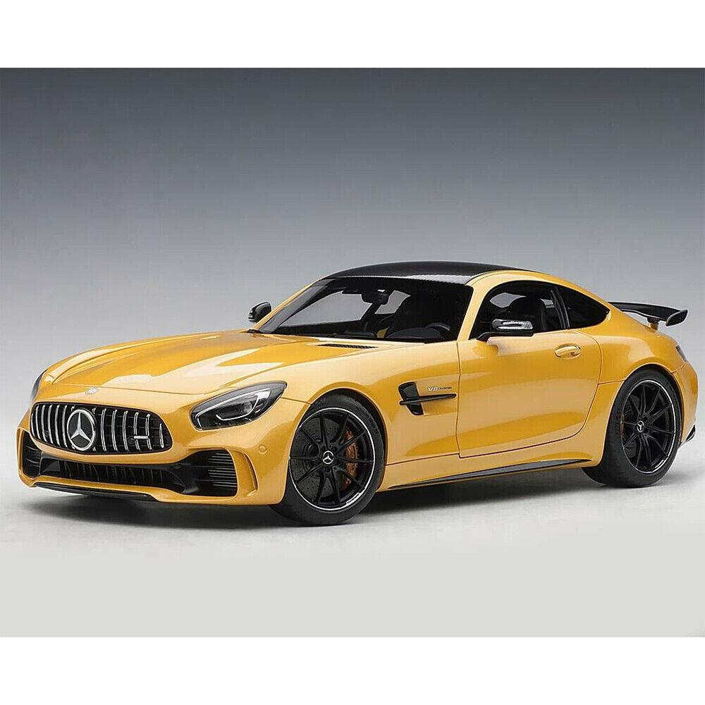 Autoart Mercedes Benz AMG GT R 1 18 Solarbeam jaune métallique 76332
