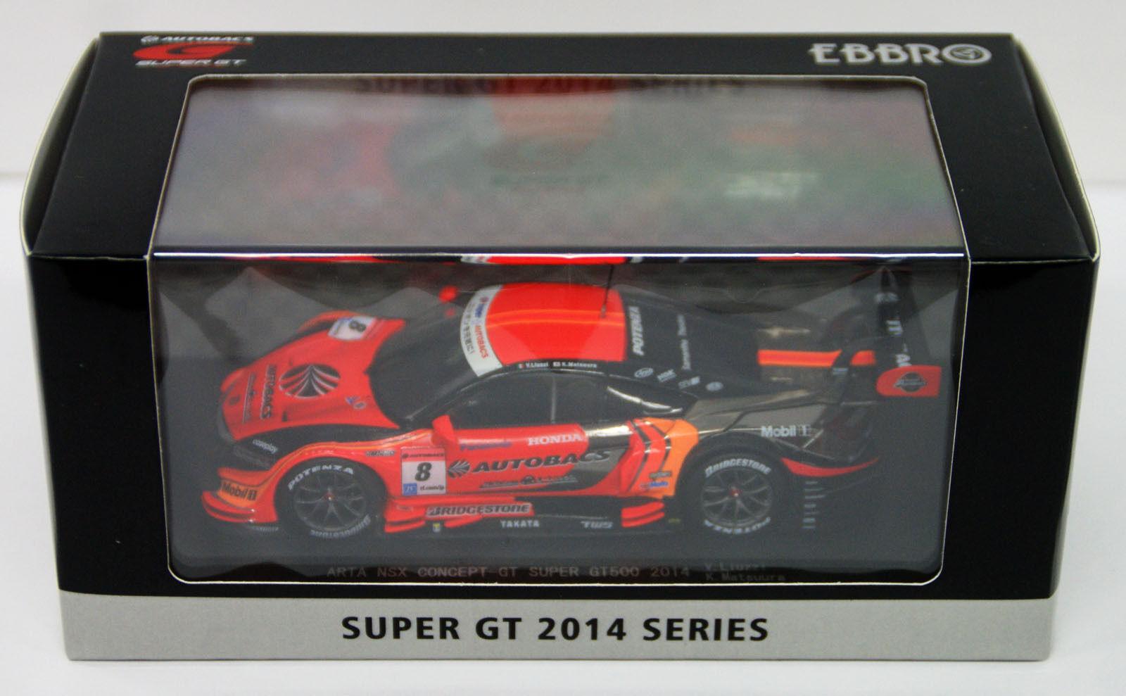 Ebbro 45072 ARTA NSX Concept-GT SGT 500 2014 No. 8 orange 1 43 scale