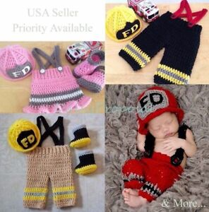 Superhero Newborn Baby Boy Girl Handmade Crochet Knit Photo Prop Halloween USA