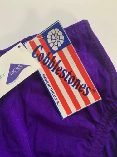 U25 NWT Youth Adult Cobblestones Cheerleading Purple Bloomers Free US Shipping