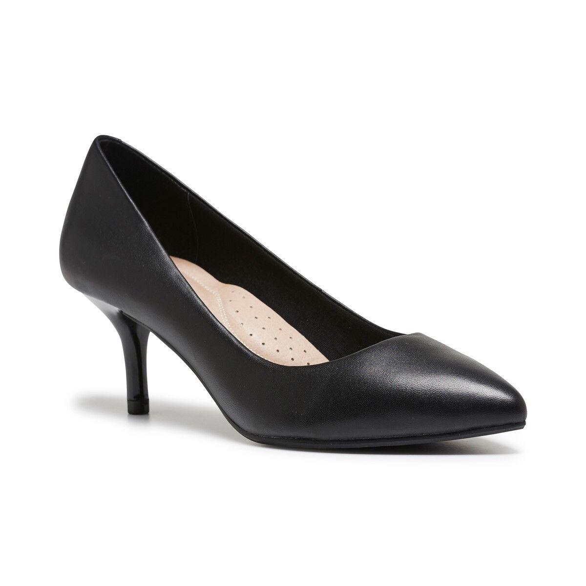 Damenschuhe HUSH PUPPIES SUZIE BLACK HEELS SLIP ON HIGH HEEL HEELS BLACK Schuhe WORK DRESS 93d134