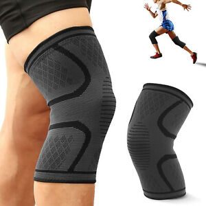 5e74c09480 Image is loading Knee-Sleeve-Guard-Support-Brace-Sport-Compression-Calf-