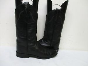 7b0be9e7945 Details about Tony Lama George Strait Black Leather Cowboy Boots Womens  Size 4.5 B Style 9542