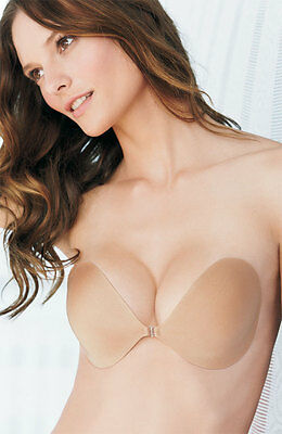 NuBra Seamless Lightweight Front-Snap Adhesive Bra Nude Nude  Nordstrom $60 New