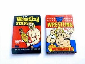 Vintage WWF Wrestling Cards Lot of 2 Sealed Packs 1985 & 1987 Hulk Hogan Rare