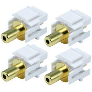 4x-3-5mm-Flush-Keystone-Jack-Female-to-Female-Coupler-AUX-Stereo-Audio-Adapter