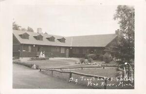 Pine River Mn Big Trout Lake Bible Camp Real Photo Postcard 1958