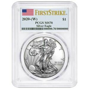 2020-W-1-American-Silver-Eagle-PCGS-MS70-First-Strike-Flag-Label