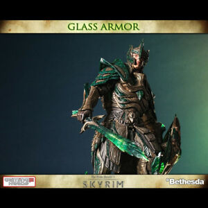 Details about GAMING HEADS Skyrim Glass Armor Statue Figure NEW