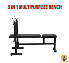 BEST WEIGHT LIFTING GYM BENCH FOR INLINE, DECLINE & FLAT BENCH PRESS ( 3 IN 1 ).
