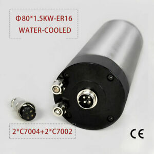 1-5KW-ER16-Four-Bearing-Water-cooled-Spindle-Motor-80mm-Engraving-Mill-Grind-CNC