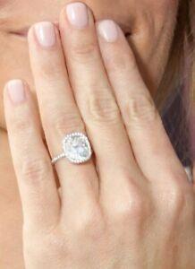 Certifie-GIA-Anneau-Fiancailles-Diamant-3-Carat-Naturel-Coussin-Forme-18k-or-VS1