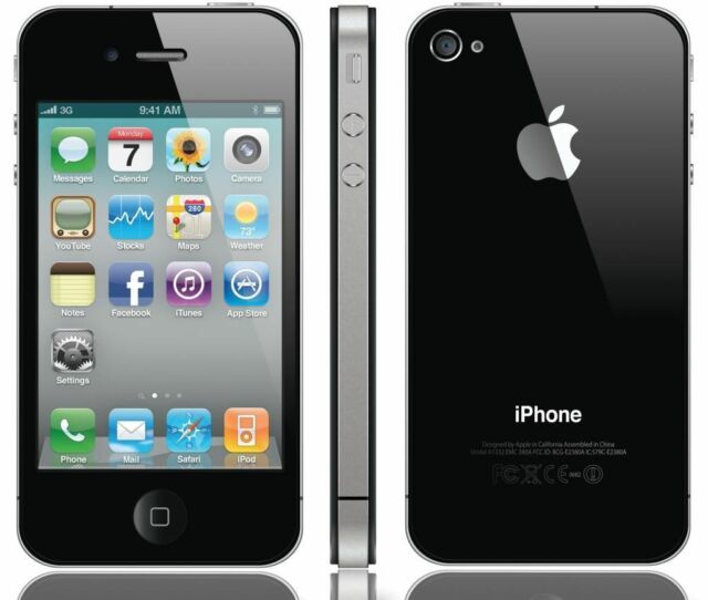 APPLE IPHONE 4S 64gb Nero Sbloccato Dual Core 8mp Camera Gps 3g Ios 9 Smartphone