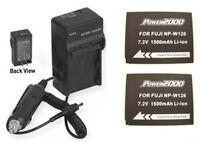 2x Npw126 Batteries + Charger For Fuji Fujifilm Xpro1 Hs30exr Hs50exr X-e1 X-e2