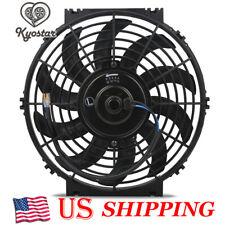 "10/"" Inch Universal Slim Fan Push Pull Electric Radiator Cooling 12V 80W 1570 CFM"