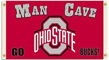 Ohio State Buckeyes 855 MAN CAVE 3x5 Flag w/grommets Outdoor Banner University