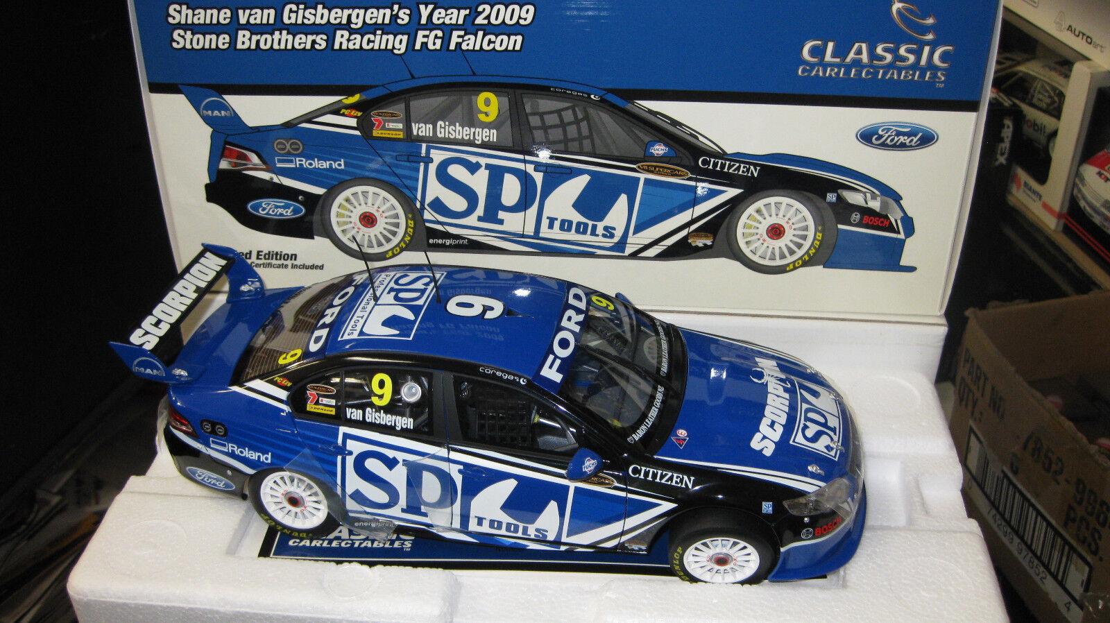 CLASSIC 1/18 S VAN GISBERGEN FORD FG FALCON 2009 SBR SP TOOLS V8 SUPERCAR  18395