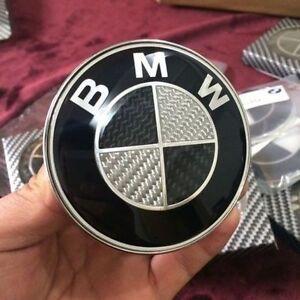 car emblem chrome front badge logo 82mm 2 pins for bmw. Black Bedroom Furniture Sets. Home Design Ideas