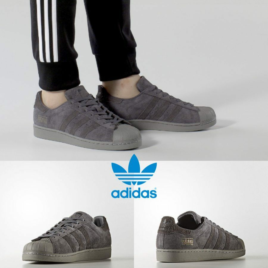 Adidas Original Superstar Sneakers Grey Black Black BZ0216 SZ 4-11 Limited