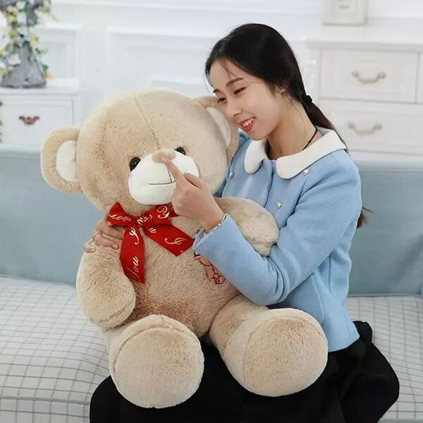 80cm Huge Giant Teddy Bear High Quality Cotton Plush Soft Toy Doll Birthday Gift