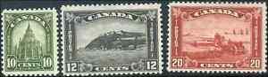 Canada-173-175-mint-F-VF-OG-H-1930-King-George-V-Arch-Leaf-Issue-Part-Set