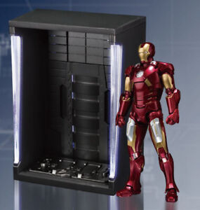 2019 DernièRe Conception Iron Man Mark Vi & Hall Of Armor Set S.h. Figuarts Action Figure Bandai Tamashii