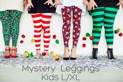 Kids L//XL LuLaRoe Christmas Holiday 2017 Mystery Leggings  FREE SHIPPING