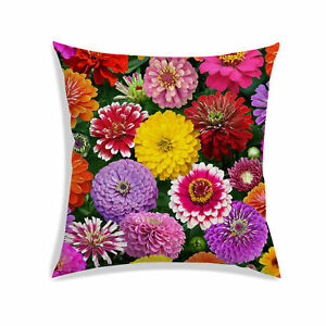 """Floral Bird Print Cushion Cover Ivory Room Sofa Couch Pillow Case Décor 12X12/"""""""