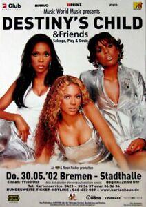 DESTINY'S CHILD - 2002 - Konzertplakat - Beyonce - Tourposter - Bremen - Oberhausen, Deutschland - DESTINY'S CHILD - 2002 - Konzertplakat - Beyonce - Tourposter - Bremen - Oberhausen, Deutschland