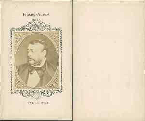 Auguste Etienne Villemot Journaliste Vintage CDV Albumen Carte
