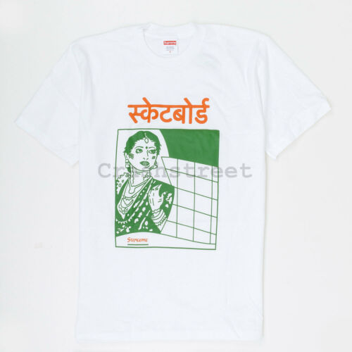 Supreme FW18 Bombay Tee cap box camp logo sweatshirt hat White