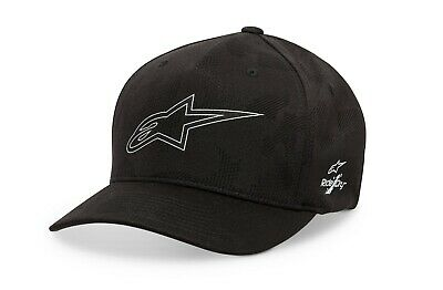 Alpinestars AGELESS Curve Bill Flex Back Hat//Cap LG-XL Black//Black