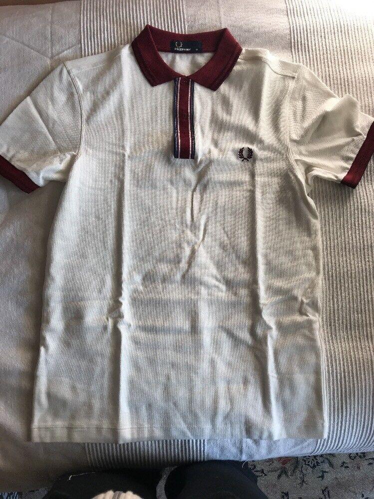 Frot Perry Polo Shirt Maglietta Brand New Xs herren Men  Retail Pique Tipped