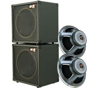 1x12 guitar speaker cabinets stack of 2 w 16 ohm celestion seventy 80 speaker ebay. Black Bedroom Furniture Sets. Home Design Ideas