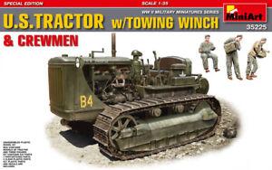 Miniart 1:35 U.S. Tracteur avec Remorque Treuil & MARINS Figures Model Kit