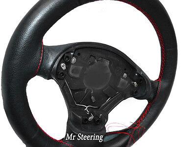 XtremeAuto Housse de volant en imitation cuir noir /à coutures rouges