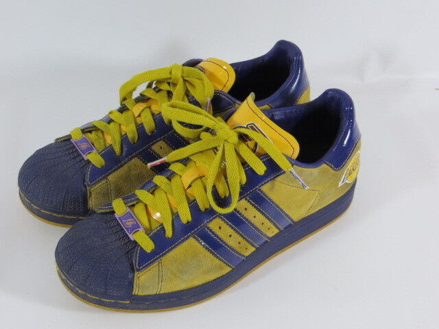 """finest selection 14cac 1ed14 Adidas Superstar zapatos trendcortos zapatillas unisex angeles lakers  lakers lakers look vintage 423fbe. """""""