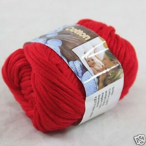 Sale-New-1-Skein-x-50g-Soft-Pure-Cotton-Chunky-Super-Bulky-Hand-Knitting-Yarn-17