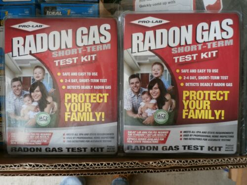 2Pack NEW PRO-LAB Radon Gas Detector Do It Yourself Test Kit Safe /& Easy RA100