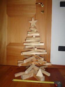 Albero Di Natale 75 Cm.Fatto A Mano Albero Di Natale 75 Cm Circa Legno Di Abete Punta Intercambiabile Ebay