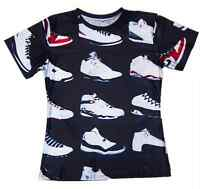 New Casual 3D Michael Jordan Shoes Fashion T-Shirt Men Women Size S M L XL 5XL 2
